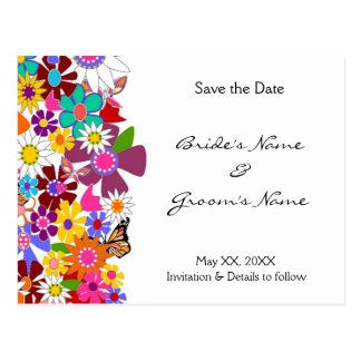 Ahorre la fecha - postal del boda