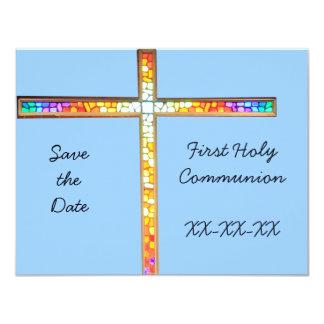 Ahorre la fecha - primera comunión santa invitacion personal