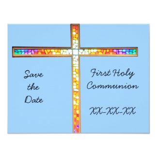 Ahorre la fecha - primera comunión santa invitaciones personalizada