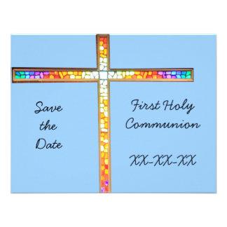 Ahorre la fecha - primera comunión santa (muchacho invitacion personal