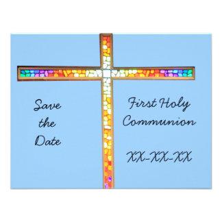 Ahorre la fecha - primera comunión santa (muchacho invitaciones personalizada