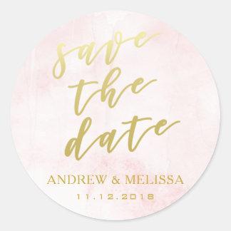 Ahorre la fecha, ruborícese y al pegatina del boda