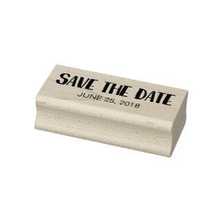 Ahorre la fecha sello de caucho
