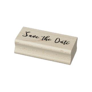 Ahorre la fecha sello de goma