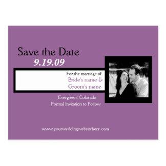 Ahorre la fecha, simple y elegante postal