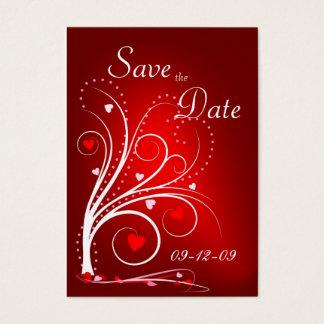 Ahorre la fecha - tarjeta roja del perfil de los