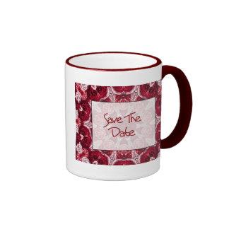 Ahorre la fecha taza de café
