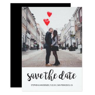 Ahorre la foto de la fecha el | invitación 12,7 x 17,8 cm
