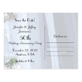 Ahorre la invitación del aniversario de la fecha postal