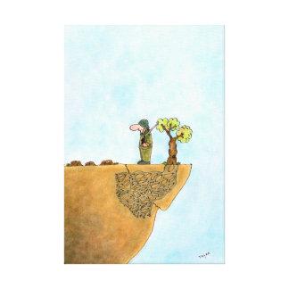 Ahorre la lona envuelta dibujo animado de los árbo impresión de lienzo