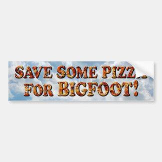Ahorre la pizza para BIGFOOT - pegatina para el