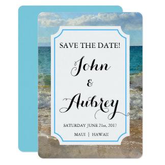 Ahorre la playa de la fecha o el boda tropical de invitación 12,7 x 17,8 cm