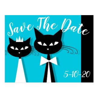 Ahorre la postal de la fecha con los gatos en amor