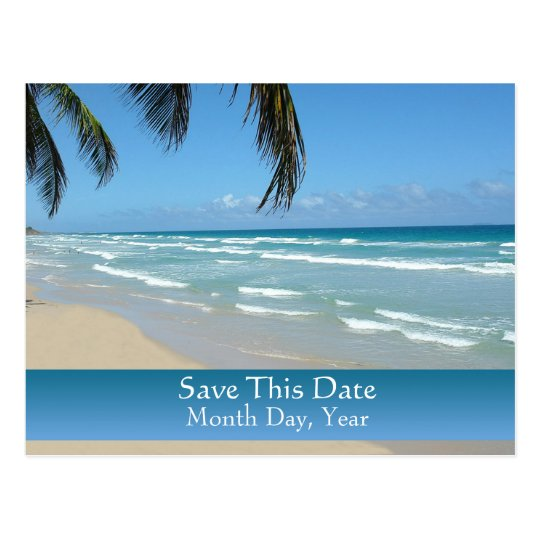 Ahorre la postal de la fecha para el boda de playa