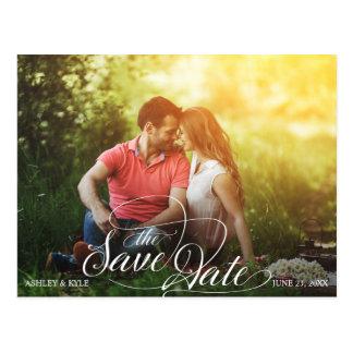Postal Ahorre la postal de la fecha para el boda del
