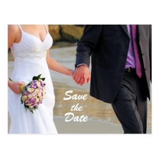 Ahorre la postal del boda de la fecha