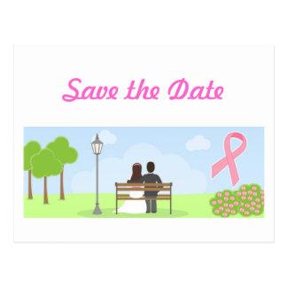 Ahorre la postal del boda del cáncer de pecho de