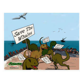 Ahorre la postal del dinosaurio de las ballenas