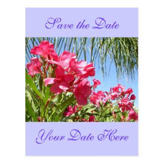 Ahorre la postal del Oleander de la fecha