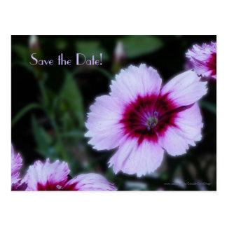 Ahorre la postal púrpura de la flor del 75.o