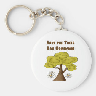 Ahorre la preparación de la prohibición de los árb llavero personalizado