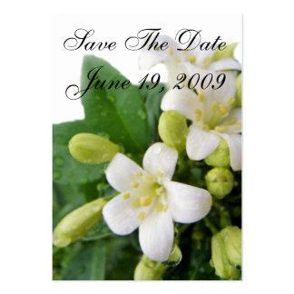 Ahorre la recepción de la fecha plantillas de tarjetas de visita