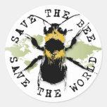 ¡Ahorre la reserva de la abeja… el mundo! Pegatina