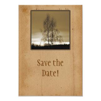 Ahorre la reunión de familia de la fecha invitación 8,9 x 12,7 cm