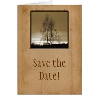 Ahorre la reunión de familia de la fecha tarjeta de felicitación