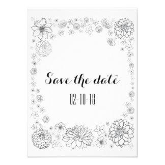 Ahorre la tarjeta de fecha, boda rústico, boda del invitación 13,9 x 19,0 cm