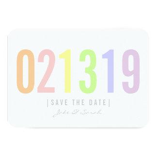 Ahorre la tarjeta de fecha - día del helado invitación 8,9 x 12,7 cm