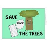 Ahorre la tarjeta de los árboles