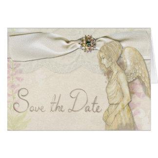 Ahorre la tarjeta del ángel de la fecha