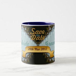 Ahorre la taza del cordón del boda de la fecha