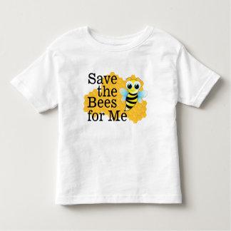 Ahorre las abejas para mí camiseta del niño