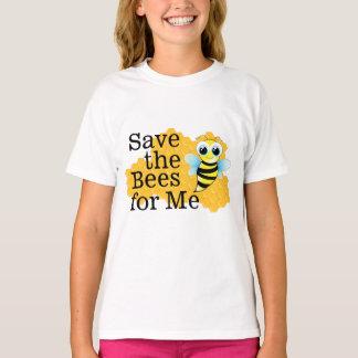 Ahorre las abejas para mí la camiseta del chica