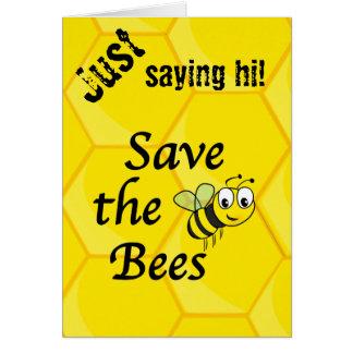 Ahorre las abejas tarjetas