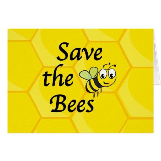 Ahorre las abejas tarjeta