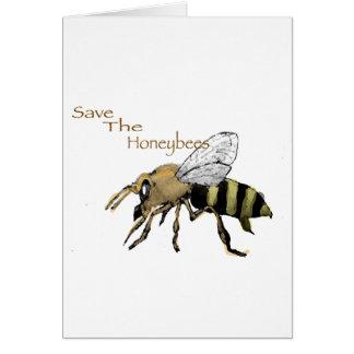 Ahorre las abejas tarjeta de felicitación