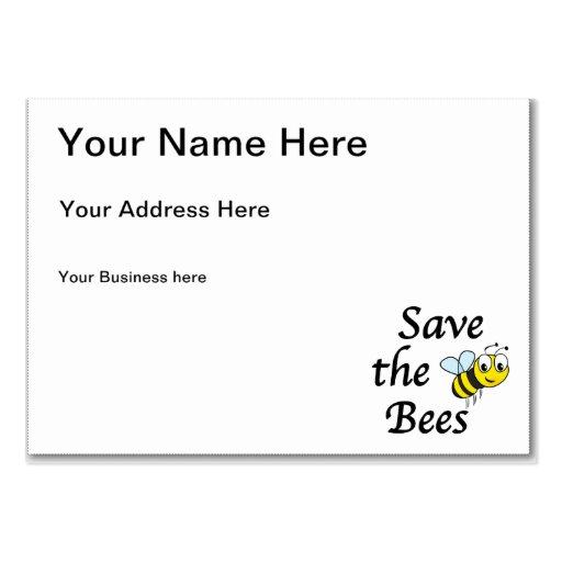 Ahorre las abejas plantilla de tarjeta personal