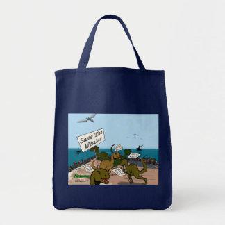 Ahorre las ballenas bolsa tela para la compra