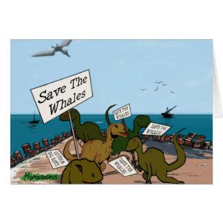 Ahorre las ballenas tarjeta de felicitación
