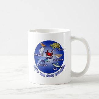 Ahorre las camisetas de la fauna del golfo tazas de café