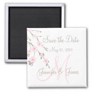 Ahorre las flores de cerezo del imán de la fecha c