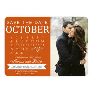 Ahorre las invitaciones del calendario de la fecha