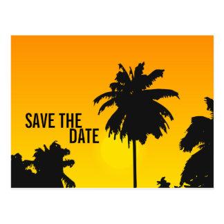 Ahorre las palmeras Sun de las tarjetas de fecha