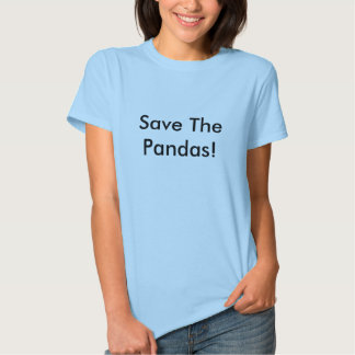¡Ahorre las pandas! Camisetas