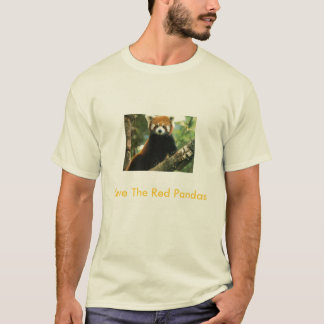 Ahorre las pandas rojas camiseta