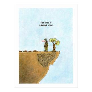 Ahorre las postales de los árboles, sátira