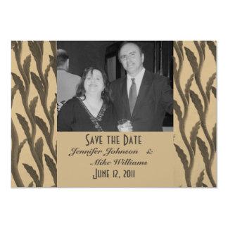 Ahorre las ramas de Biege Brown de la fecha Invitación 12,7 X 17,8 Cm